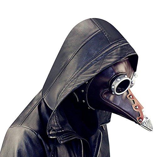 StageOnline Pest Maske Cosplay Kostüm Erwachsene Lange Schnabel Masken für Halloween Prop Punk Maske