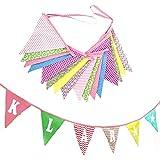 Guirnalda de banderines con nombre o texto personalizado tela para tener varios acabados decorativo