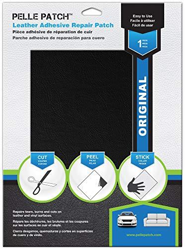 Pelle patch - toppa adesivo per riparare pelle e vinile - 25 colori disponibili - original 28cm x 41cm - nero