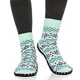 Romancan Damen Cosyshoe Stoppersocken Warm und Rutschfester Sohle Socken Hausschuh