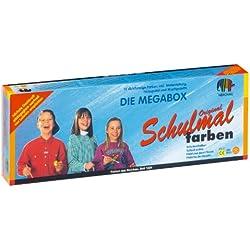 LACUFA Nerchau 109813 - Schulmalfarbe, Grund und Zusatzfarben, 13er Set, 18 ml
