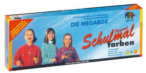 Nerchau 109813 - Schulmalfarbe, Grund und Zusatzfarben, 13er Set, 18 ml