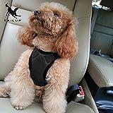 Gugutogo Tailup stilvolle Haustier Auto Sicherheit Brust Auto Sicherheitsgurt Hunde Harness Brustgurte (Farbe: schwarz)