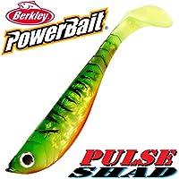 Berkley Power Bait Pulse Shad Pez de goma 14cm Firetiger 3unidades en Set.