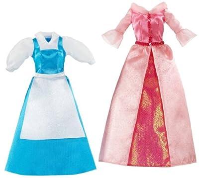 Disney T7235 - Set de 2 vestidos de princesa para muñeca de Bella de Disney Princesses