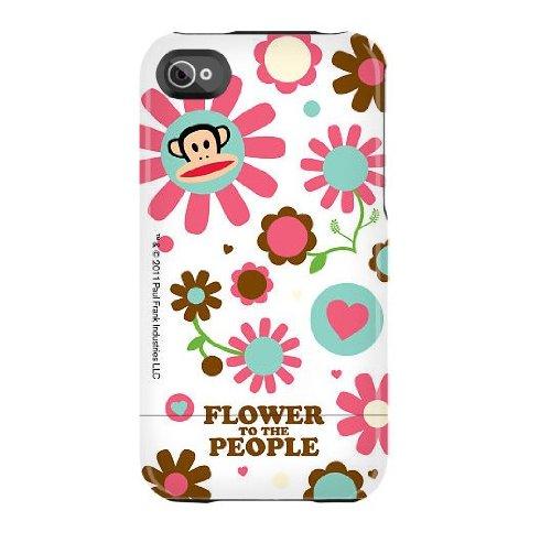 Paul Frank-Custodia Deflector per iPhone 4/4S, colore: nero Flower Power