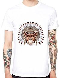 Yingyan Indische Orang-UTAN Männer Weicher Baumwolle Lustige Coole T-Shirts Kurzarm Tops Tee