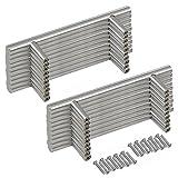 Yaheetech 20 Maniglie per Mobili Cassetti Armadio Porte in Acciaio Inox T Barra Manico Barre 200 mm