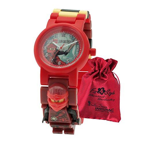 LEGO Ninjago Hands of Time Kai Jungs Kinder-Uhr mit austauschbaren Gliedern ULE8020899 Kai Ninjago Uhr