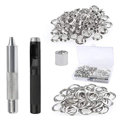 10 St/ück Leder /Ösen Braun Schnuckidu Kunstleder /Ösen 11mm Silber /Ösen Patches