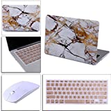 """Best unknown Wireless Keyboard And Mouses - HDE White and Gold Marble MacBook Air 13"""" Review"""
