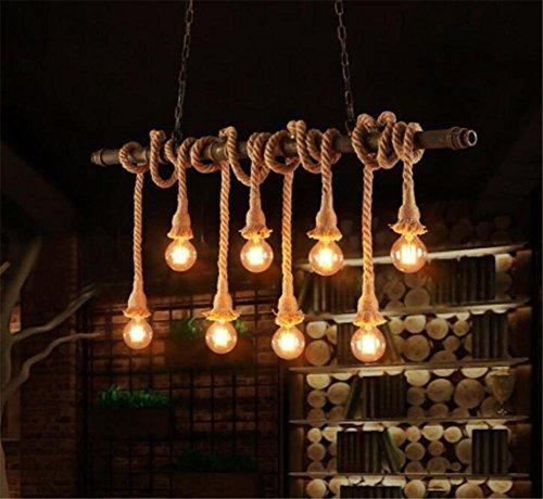Seil-anhänger-beleuchtung (GAYY Innenbeleuchtung Kronleuchter Armaturen Hanf Seile Anhänger Kronleuchter Beleuchtung Deckenleuchte Kreative Wasserrohre Hängevorrichtung 220V H 90 cm X W 127 cm)