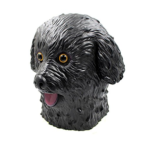 SQCOOL Animal Maske Teddy Dog Halloween Eco Latex spielen Funny Requisiten Make-up Ball , black (Party Animal Kostüm Make Up)