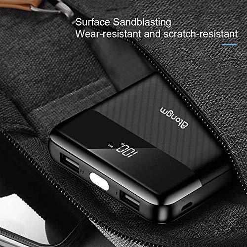 atongm 20000mAh Portable Double USB Port Li-Polymer External Battery Power Bank with Digital Display for Mobile Phones (Black) Image 7