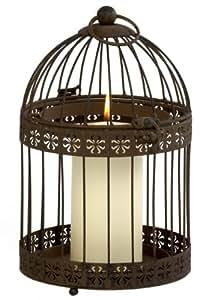 Ivyline FFRB33 Firefly Bronze Rustic Birdcage Candle Holder, 33/ 14 cm