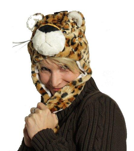 Panda Schnee Kostüm (Trendige Wintermütze im Tier-Look - hält auch bei eisigen Temperaturen warm)