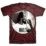 Tee Shack Bob Marley Smoking Reggae Ufficiale Uomo Maglietta Unisex (Medium)