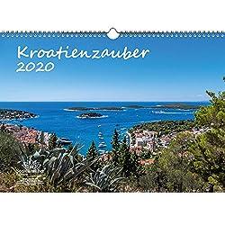 Kroatienzauber DIN A3 Kalender 2020 Kroatien Geschenk-Set: Zusätzlich 1 Grußkarte und 1 Weihnachtskarte - Seelenzauber