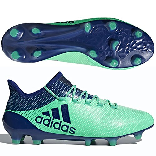 adidas Herren X 17.1 FG Fußballschuhe, Grün (Aergrn/Uniink/Hiregr Aergrn/ Uniink/Hiregr), 42 EU