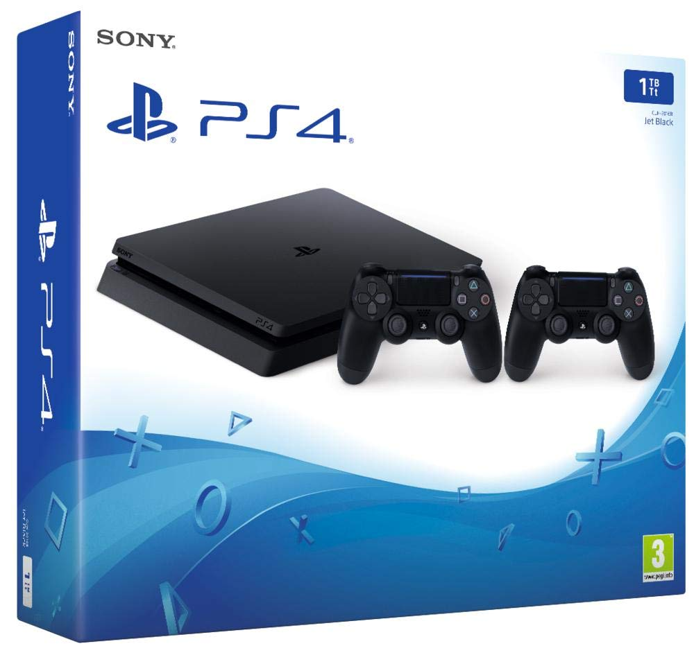 PlayStation 4 (PS4) – Consola de 1 TB + 2 Dual Shock 4 Wireless Controller