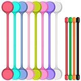 8 Stk. Magnetschnurwickler mit 4 Stück Twist Krawatten, SENHAI String Winder Kabelbinder Kabelbänder für Management von Kopfhörerkabeln Hängetasten Befestigungssäcke