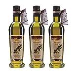 ARISTOS 3x kaltgepresstes natives Olivenöl extra sortenrein Koroneiki naturtrüb Griechenland frische Ernte Dez 2018 (3x 500ml)