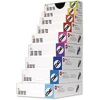 Gbc 4400321 - Pack de 100 canutillos de plástico, 8 mm, color negro