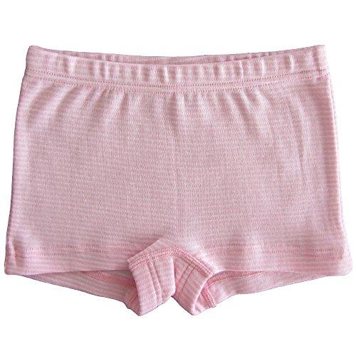 HERMKO 26710 Mädchen Panty in Ringeloptik made in EU, Größe:152, Farbe:Rosa Ringel (Rosa Panty Kurz)