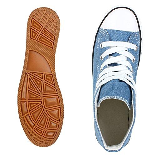 best-boots Donna Uomo scarpe da ginnastica Hellblau Nuovo