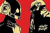 Daft Punk Dessin animé/casques Poster (91.44x 60.96cm)