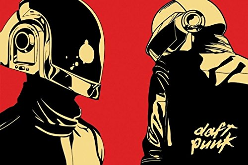Daft Punk Cartoon/Helmets Poster Print (91.44 x 60.96 for sale  Delivered anywhere in UK