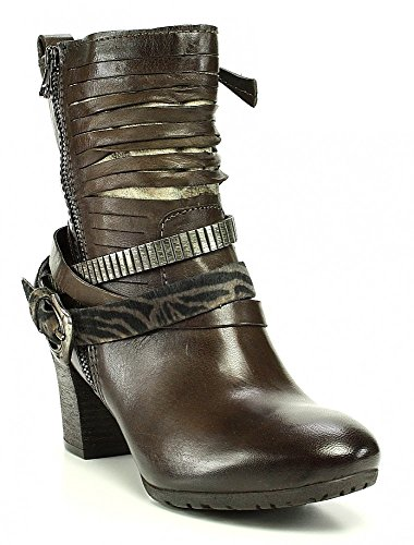 Mjus bottines marron doré, café pointu bandes décoratives d'emballage Multicolore - 3964 CAFFE/TDM/BRONZO