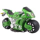 FDS Goplus 4D RC Motorrad Racing Bike Simulation Kinder Spielzeug Fernbedienung Motorcycle Rennmaschine (Grün)