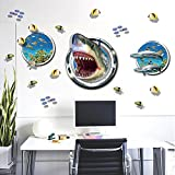 Zooarts Shark Submarine Fishes Removable Wall Stickers Decals Vinyl Art Decor Kids Child Home Room Mural