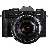 Fujifilm X-T10 Fotocamera Digitale con XF18-135 MM F3.5-5.6 R LM OIS WR Obiettivo Zoom, Nero