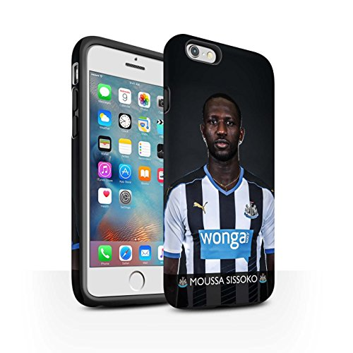 Officiel Newcastle United FC Coque / Matte Robuste Antichoc Etui pour Apple iPhone 6S+/Plus / Pack 25pcs Design / NUFC Joueur Football 15/16 Collection Sissoko