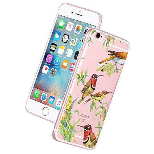 Custodia iPhone 6, Cover iPhone 6s Pacyer® Custodia Chiaro Cristallo Ultra Sottile Morbido Placcatura TPU Gel Case Cover per Apple iPhone 6/6s 4.7 (Cactus ragazza animale) 1