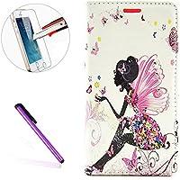 Galaxy Note 4Custodia a portafoglio, il [farfalla fata fiore] []