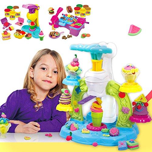 Plastilina 3D Ice Cream Mould dispositivi set bambini Mud DIY gioca giocattoli puzzle bambini divertente variopinto Tools