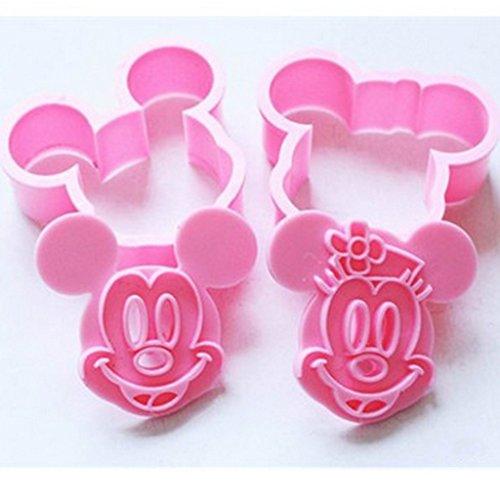 2-tlg. Fondant Plätzchenformen Set Ausstecher Ausstechformen, Mickey Mouse (Mickey-mouse-hochzeit)