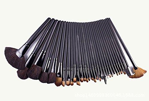 XUAN 32 laine marron foncé, cosmétiques de poils maquillage professionnel brosse brosses ensemble