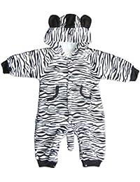 """DAS ORIGINAL BOMIO® Baby Overall aus Fleece """"Zebra"""" (Größe 74/80 (6-12 Monate), Herbst/Winter (two layer))"""