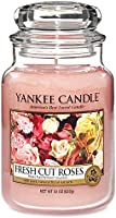 Yankee Candle Fresh Cut Roses Jar Candle, Large - Pink