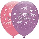 6 Unicorn Fantasy Printed Balloons