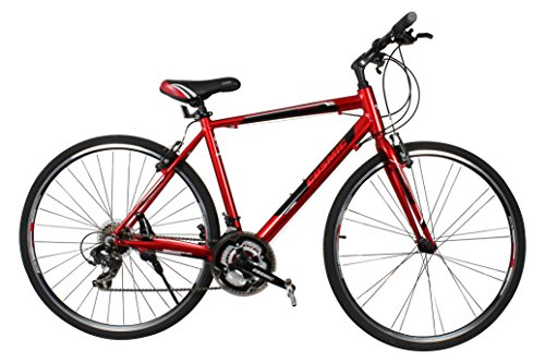 COSMIC SHUFFLE 700 C ALLOY HYBRID BICYCLE RED - SPECIAL EDITION