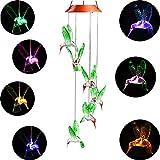 Elisson 1992 De color cambiante LED Solar móvil de viento, LED luces que cambian de Color anti-weather seis colibrí viento, para noche hogar partido jardín decoración al aire libre