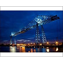 Photographic Print of Tees Transporter Bridge, Middlesbrough N100022 by Media Storehouse