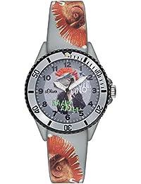 s.Oliver Unisex-Armbanduhr Analog Quarz Silikon SO-2999-PQ