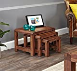 Shiro Walnut Nest Of Three Coffee Tables