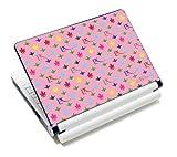 Luxburg® Design Aufkleber Schutzfolie Skin Sticker für Notebook Laptop 10 / 12 / 13 / 14 / 15 Zoll, Motiv: LX Muster pink